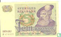 Schweden 5 Kronor 1974