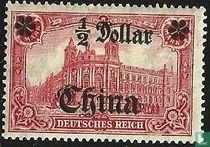 Postkantoor Berlijn inschrift DEUTSCHES REICH, met opdruk