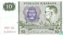 Schweden 10 Kronor 1987