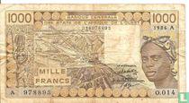 West Afr. Stat. 1000 Francs A