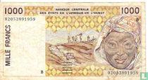 West Afr. Stat. 1000 Francs B