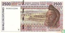 West Afr. Stat. 2500 Francs T