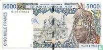 West Afr. Stat. 5000 Francs T