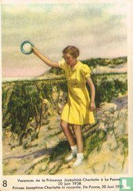 Prinses Josephine-Charlotte in vacantie. De Panne, 20 Juni 1938