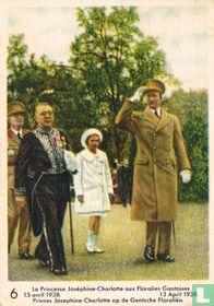 Prinses Josephine-Charlotte op de Gentsche Floraliën. 13 April 1938
