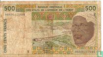 West Afr. Stat. 500 Francs T