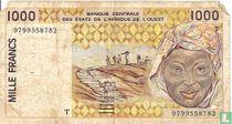 West Afr. Stat. 1000 Francs T