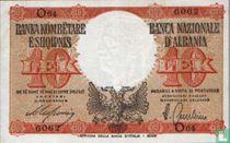 Albanië 10 Lek ND(1940)
