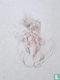 Hans Bellmer - Ets /Woman licking an erect penis