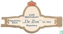 """Café Restaurant """"De Zon"""" Wagenberg - Agentschap B.B.A. - Tel 263"""