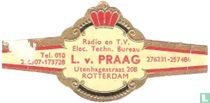 Radio en T.V. Elec. Techn. Bureau L. v. Praag Utenhagestraat 208 Rotterdam - Tel. 010 2??07-173728 - 276231-257486