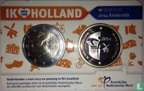 "Netherlands 2 euro 2014 (coincard) ""Windmills of Kinderdijk"""