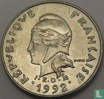 Frans-Polynesië 10 francs 1992