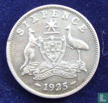 Australie 6 pence 1925