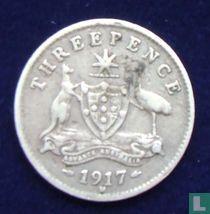 Australien 3 Pence 1917
