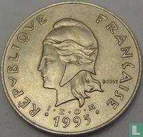Frans-Polynesië 50 francs 1995