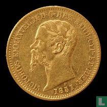 Sardinië 20 lire 1851 (P)