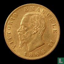 Italië 20 lire 1868
