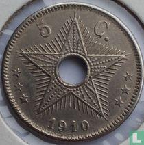 Belgian Congo  5 centimes 1910