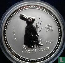 "Australië 1 dollar 1999 (kleurloos) ""Year of the Rabbit"""