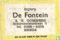Slijterij De Fontein - A.H.Gommers