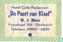 Hotel Café Restaurant De Poort van Kleef - W.J.Maas