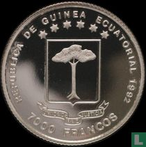 "Äquatorial-Guinea 7000 Franc 1992 (PP) ""Summer Olympics in Barcelona - Katrin Krabbe"""