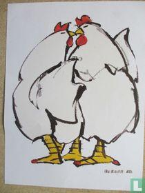 2 kippen