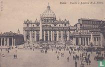 Italia Roma Piazza Basilica St Piedro around 1900 - Streetview horse car