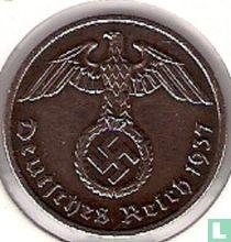 Duitse Rijk 2 reichspfennig 1937 (F)