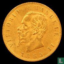 Italië 20 lire 1865