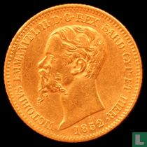 Sardinië 20 lire 1852 (P)