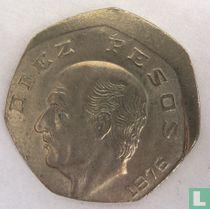 Mexico 10 pesos 1976 (misslag)