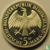 "Duitsland 5 mark 1967 (PROOF) ""Wilhelm and Alexander von Humboldt"""