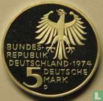 "Duitsland 5 mark 1974 (PROOF) ""250e geboortedag van Immanuel Kant"""