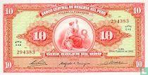Peru 10 soles de oro 1966 UNC