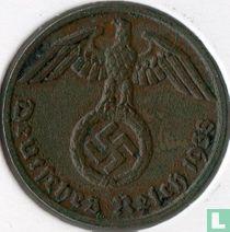 Duitse Rijk 1 reichspfennig 1938 (G)