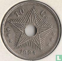 The Belgian Congo 10 centimes 1924