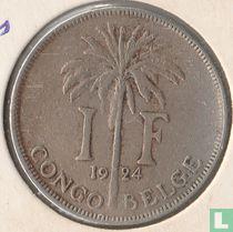 Belgisch-Kongo 1 franc 1924 (FRA)