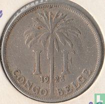 Belgisch-Kongo 1 franc 1923/2 (FRA)