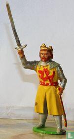 King Arthur on foot