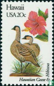 Vogels en bloemen