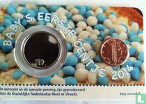 "Netherlands 1 cent 2014 (coincard - boy) ""Baby's eerste centje"""
