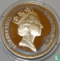 Gibraltar 2,8 ecus / 2 pounds 1992
