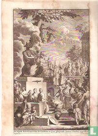 De Afgodt Moloch, aan wien de Kinderen in syne gloeyende Armen wierden opgeofferd