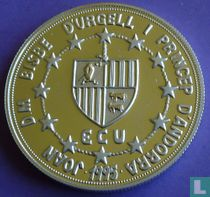 "Andorra 10 diners 1995 (PROOF) ""European Customs Union - Ramon Berenguer III"""