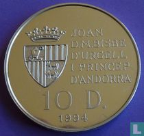 "Andorra 10 diners 1994 (PROOF) ""1996 Summer Olympics in Atlanta"""