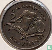 """Swaziland 2 emalangeni 1981 """"Diamond Jubilee King Sobhuza II"""""""