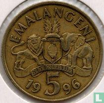 Swaziland 5 emalangeni 1996
