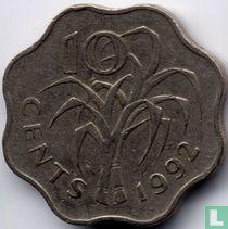 Swaziland 10 cent 1992